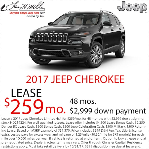 Denver Jeep Cherokee Lease