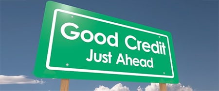 Good Credit Just Ahead Poster