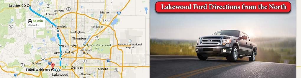 directions from boulder to larry h miller ford lakewood dealership. Black Bedroom Furniture Sets. Home Design Ideas