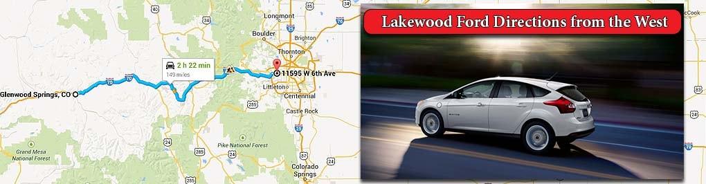 directions from glenwood springs larry h miller ford lakewood dealership. Black Bedroom Furniture Sets. Home Design Ideas