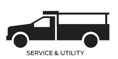 Icon linking to Ford service and utility work trucks