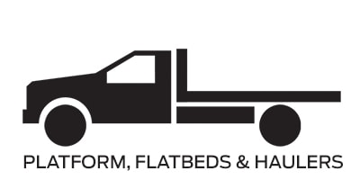 Icon linking to Ford platform flatbeds and haulers work trucks