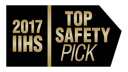 Ford F-150 2017 IIHS Top Safety Pick on Crew Cab/Extended Cab with optional front crash prevention