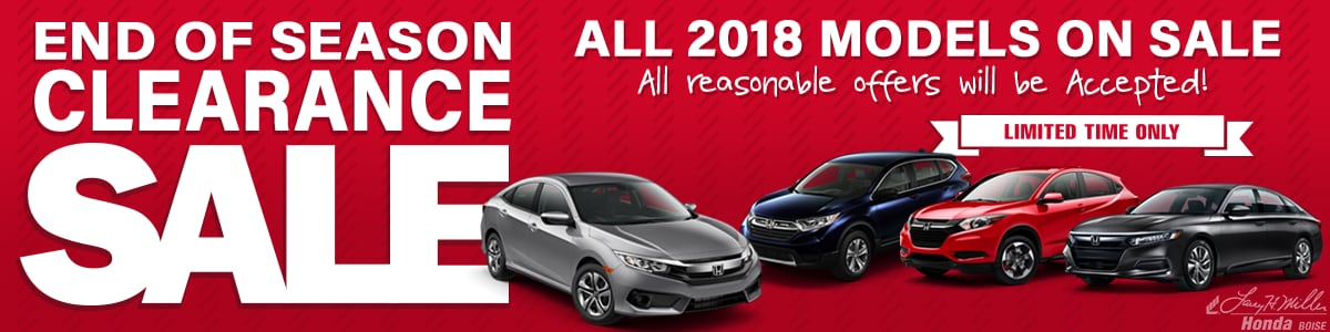 Year End Model Clearance | Save On All New 2018 Honda Inventory