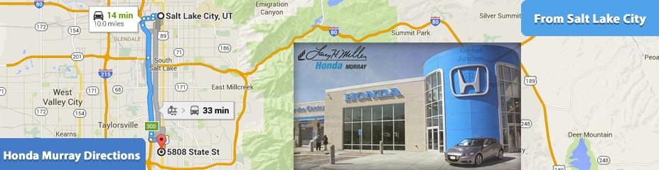 Larry H Miller Honda >> Directions To Larry H Miller Honda Murray From Salt Lake City