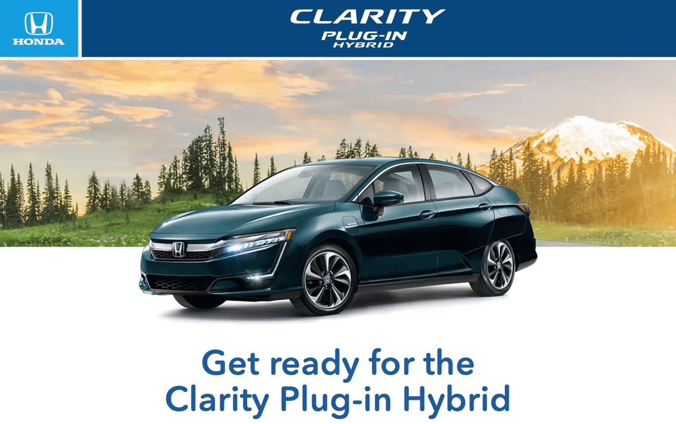 New Honda Clarity Plug-in Hybrid