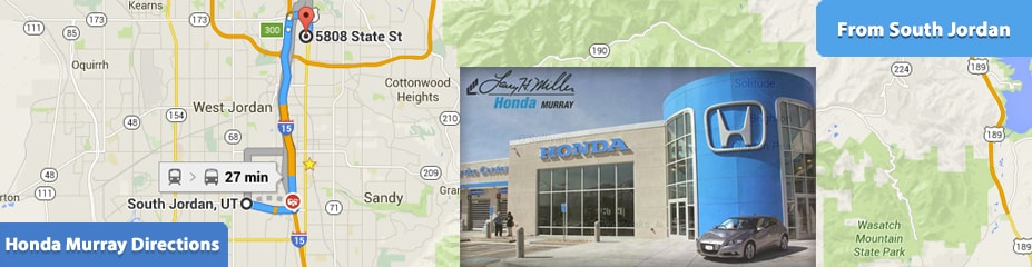 Directions To Larry H. Miller Honda From South Jordan