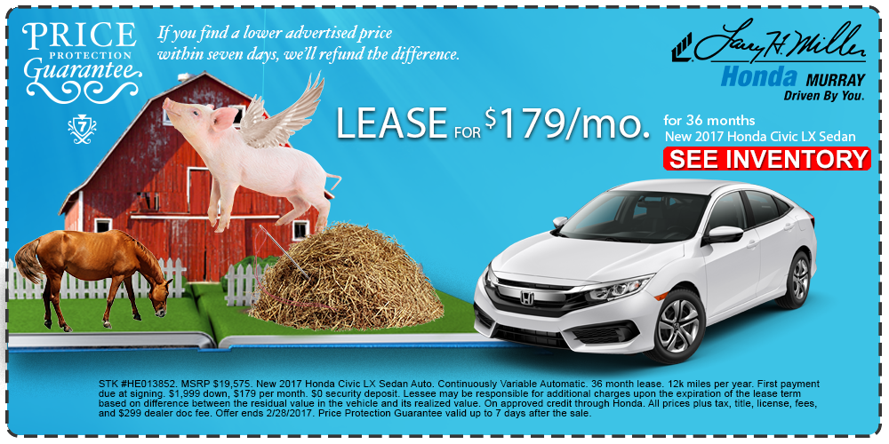 New Honda Civic Lease In Murray