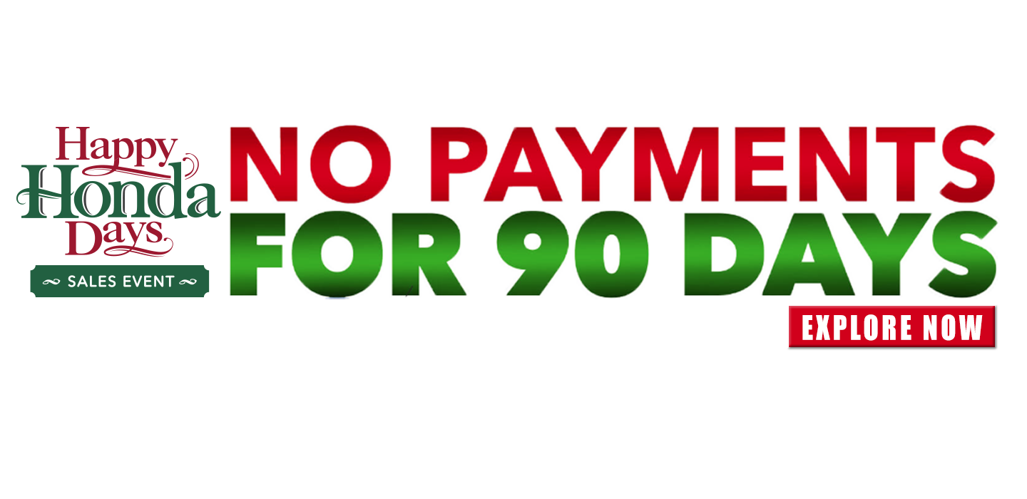 Buy a new car and make no payments for 90 days