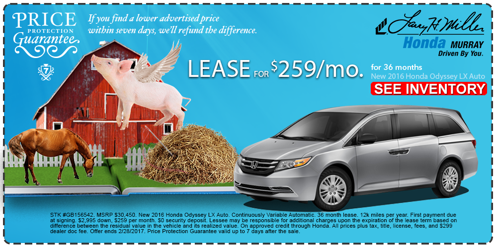 New Honda Odyssey Lease In Murray