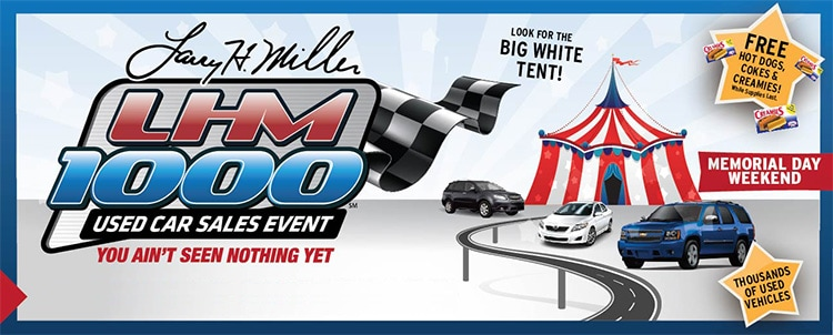 LHM 1000 Used Car Sales Event