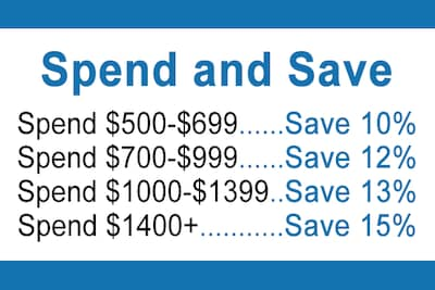 Spend And Save Starting At $500
