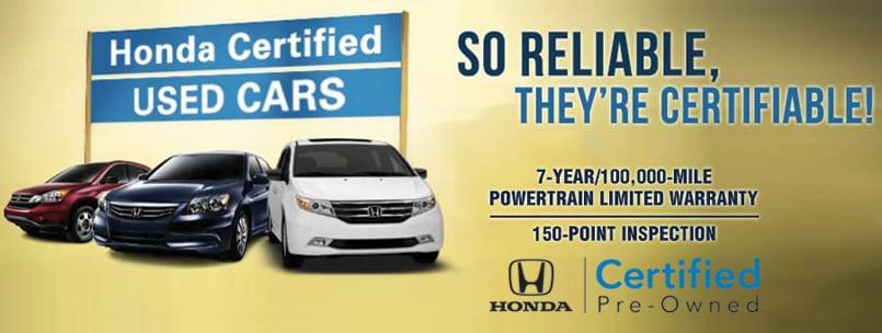 Certified Pre Owned Hondas. At Stockton 12 Honda ...