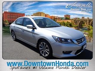Certified Pre-Owned Honda vehicles 2015 Honda Accord Sedan Sport I4 CVT Sport for sale near you in Spokane, WA