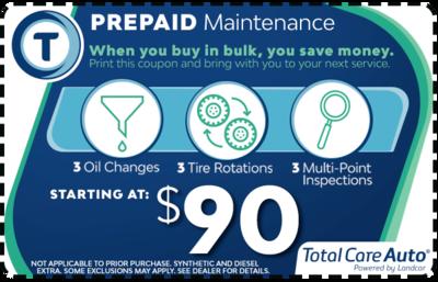 1 Year Prepaid Maintenance Package