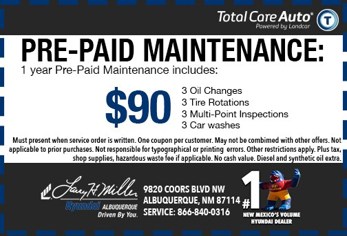 Pre-Paid Maintenance Special