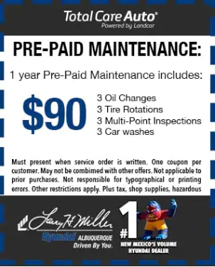 Service pre-paid maintenance