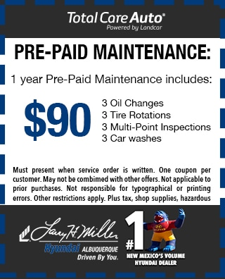 Pre-paid maintenance plan service special
