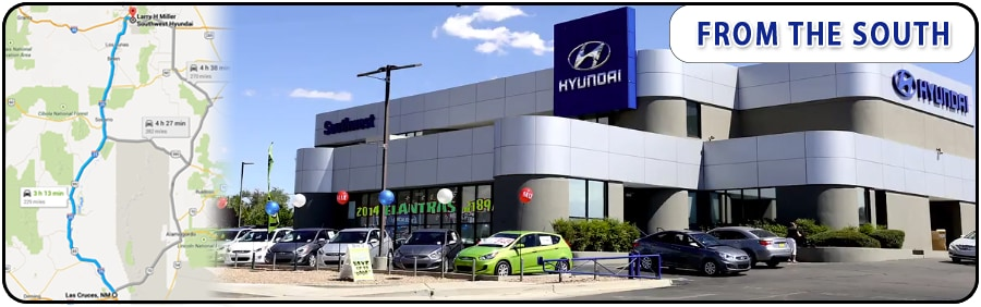 Hyundai Las Cruces >> Directions From Las Cruces To Larry H Miller Southwest Hyundai