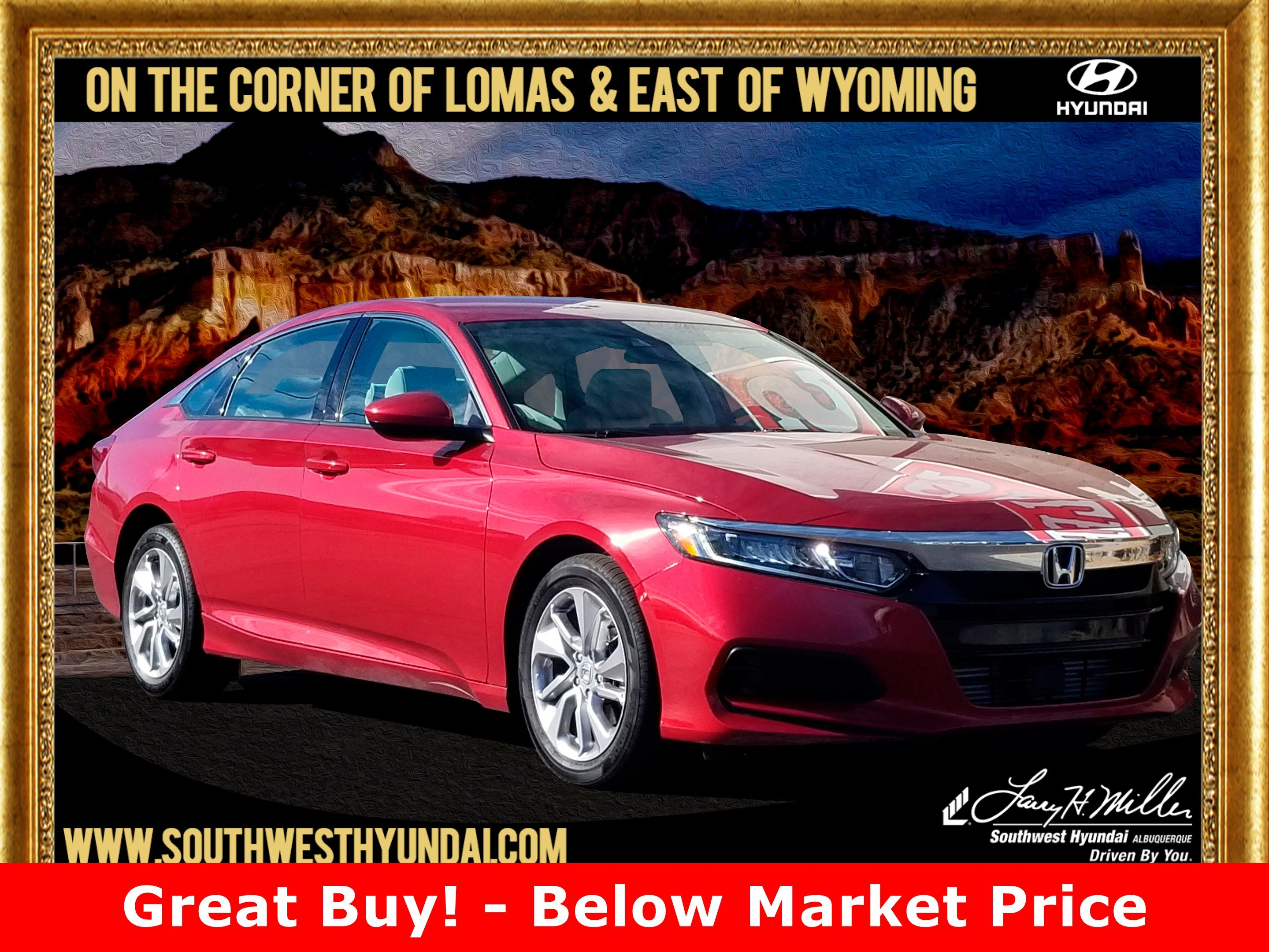 Featured pre-owned 2018 Honda Accord LX Sedan for sale near you in Albuquerque, NM