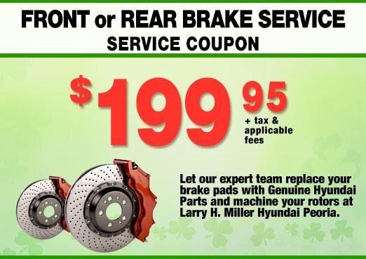 Front or Rear Brake Service Coupon, Peoria, AZ
