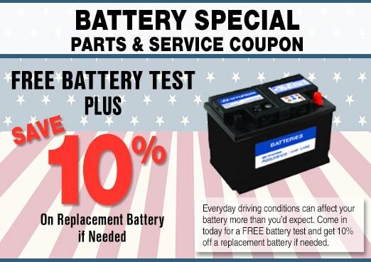Car Battery Service Coupon, Peoria, AZ