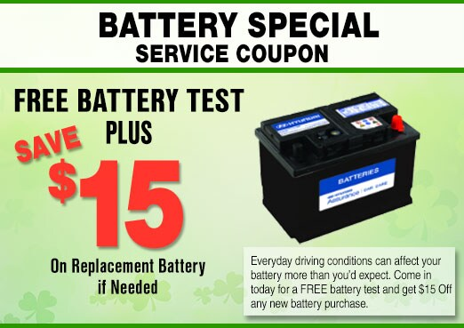 Car Battery Service Coupon, Peoria, AZ
