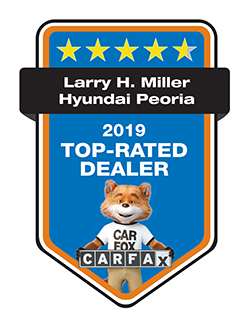 Larry H. Miller Hyundai Peoria is a 2019 CARFAX TOP RATED DEALER