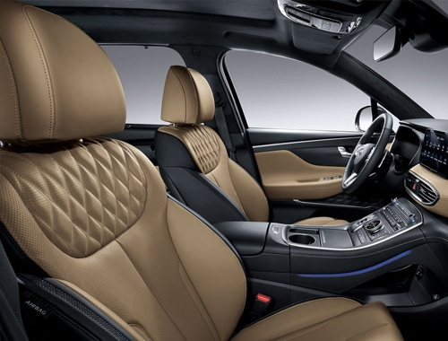 2021 Santa Fe Interior rear seating.