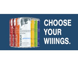 WIIINGS SALE: RED BULL 12oz 2 for $5