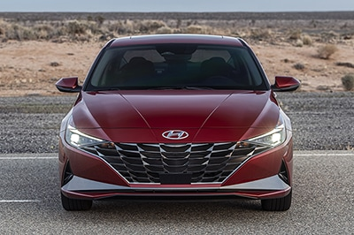 2021 Elantra exterior view, full front