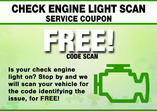 Free Check Engine Code Scan Coupon, Peoria, AZ