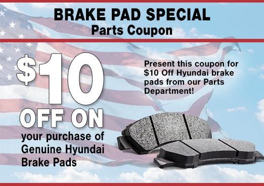 Hyundai Brake Pads Parts Coupon, Peoria, AZ