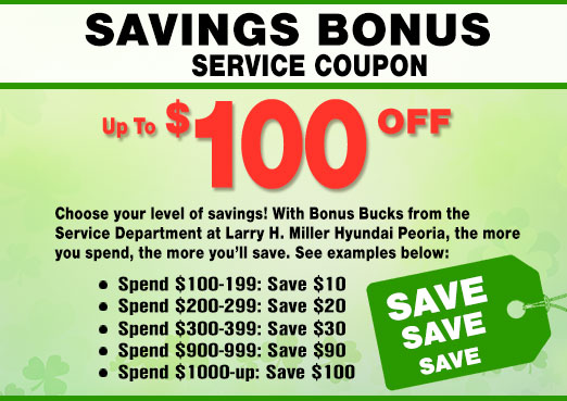 Bonus Savings Coupon for Hyundai Service in Peoria, AZ
