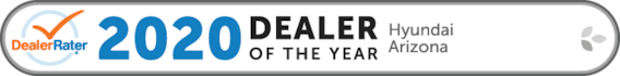 2020 Dealer Rater Arizona Hyundai Dealer of the Year Award