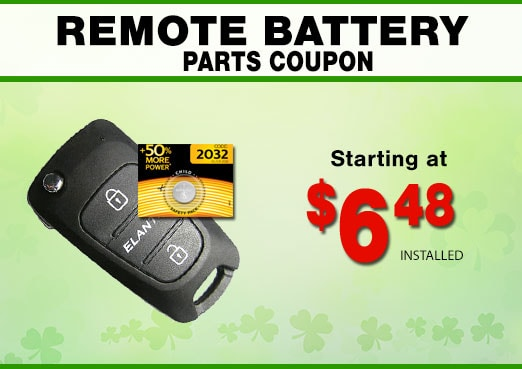 Hyundai Remote Fob Battery Coupon, Peoria, AZ