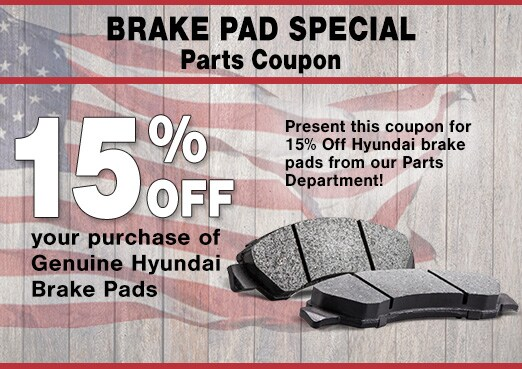 Hyundai Brake Pads Parts Coupon, Peoria, AZ