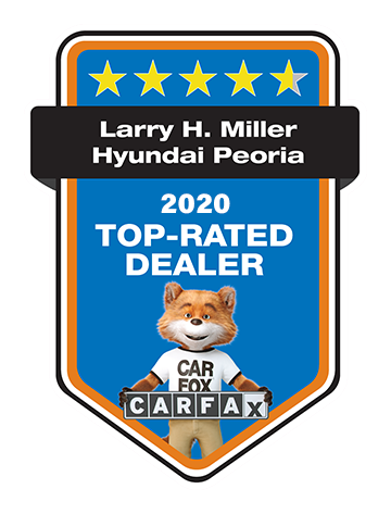 Larry H. Miller Hyundai Peoria is a 2020 CARFAX TOP RATED DEALER