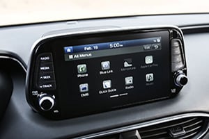 2019 Santa Fe interior image- display screen