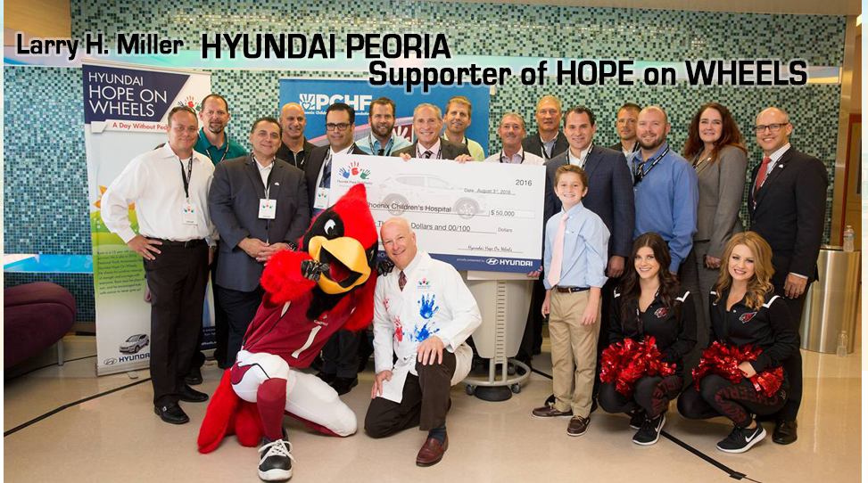 Hope on Wheels Event with Larry H. Miller Hyundai Peoria Charities