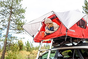 Yakima SkyRise tents available from Larry H. Miller Hyundai Peoria, AZ