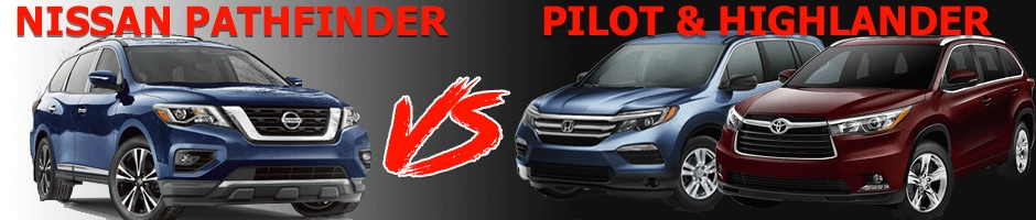 Nissan Pathfinder vs Honda Pilot & Toyota Highlander near Denver