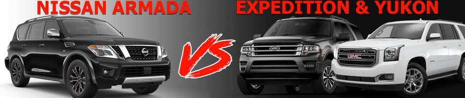 Nissan Armada vs Ford Expedition and GMC Yukon near Denver