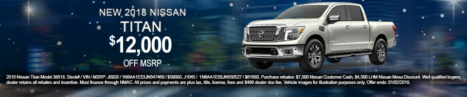 2018 Nissan Titan Offer, Mesa, AZ