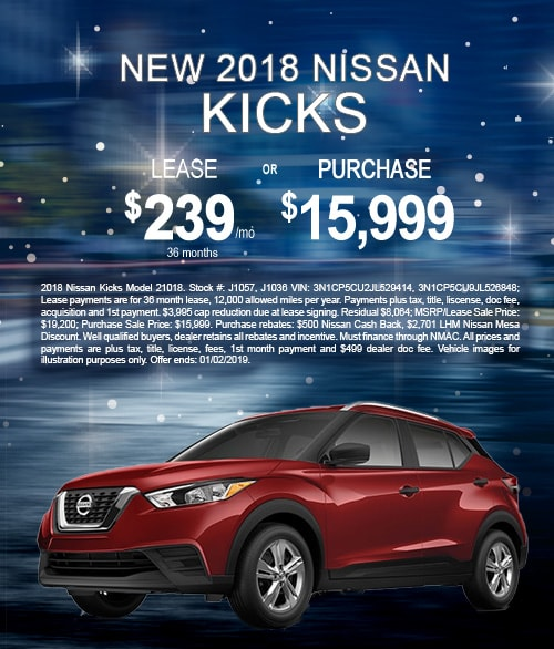 2018 Nissan Kicks $189 Lease Offer, Mesa, AZ