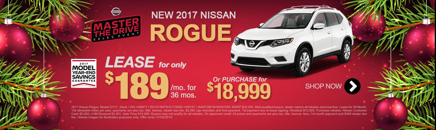 New 2017 Rogue Special offer for Mesa Nissan Shoppers