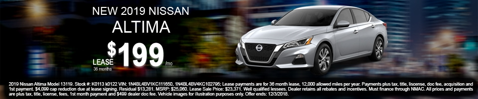 2019 Nissan Altima $199 Lease Offer, Mesa, AZ