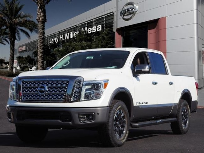 New Nissan vehicle 2018 Nissan Titan Platinum Reserve Truck Crew Cab 1N6AA1E58JN550527 for sale near you in Mesa, AZ
