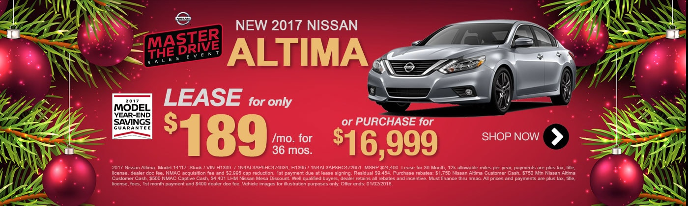 New 2017 Altima Special offer for Mesa Nissan Shoppers