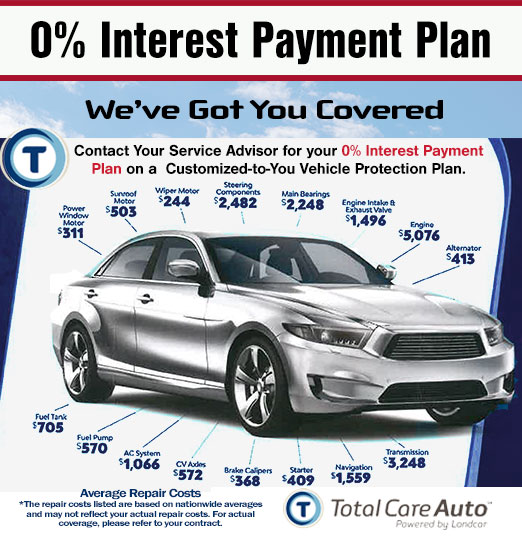 0% Interest Automotive Service & Repair Payment Plan - We've Got You Covered at Larry H. Miller Nissan Mesa.